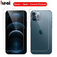 3-in-1 Full Cover Für iPhone 12 Pro MAX mini Screen Protector Zurück Gehärtetem Glas Auf Für iPhone 11 Pro XS Max X Kamera Objektiv Film Glass panzerglas