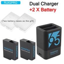 2Pcs 1220mah Rechargeable Battery  Hero5 6 7 8 Dual Battery Charger For GoPro Hero 8 7 6 GoPro 5 Black Sport Camera зарядное устройство gopro max dual battery charger battery acdbd 001 eu