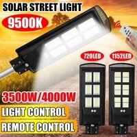 3500W 4000W LED Solar Street Light Radar PIR Motion Sensor Lamp with Remote Controller for Outdoor Garden Patio Street Lighting