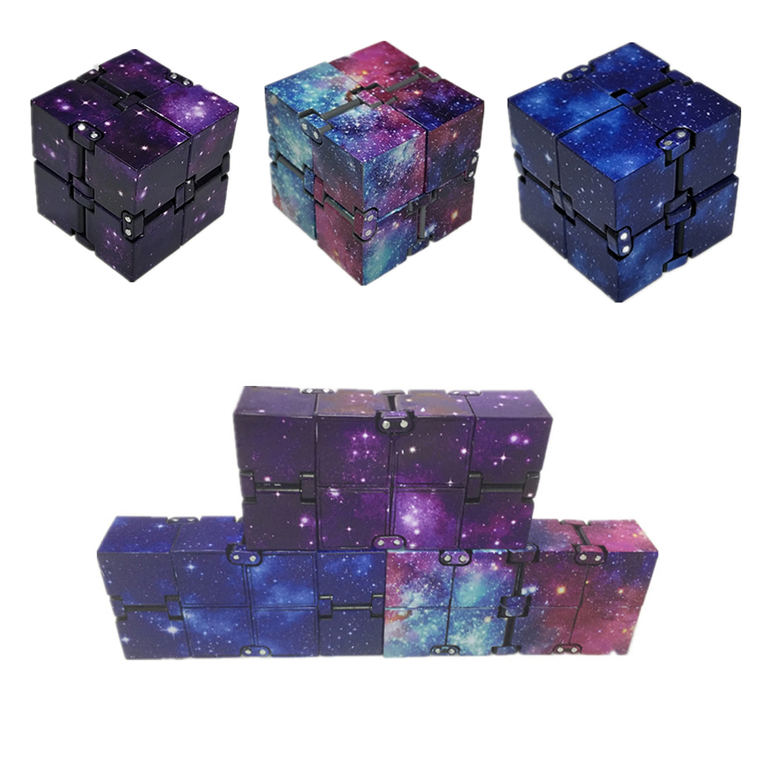 Toy Infinity-Cube Stress Finger EDC Relief-Cube-Blocks Anxiety Ul for Adult Kids Funny img4