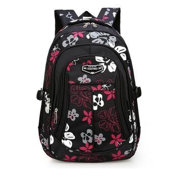Cute Floral Print Elementary School Backpack Orthopedics Bags Kids In Primary Schoolbag for Girls Boys Mochilas