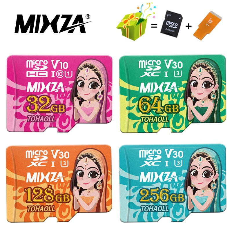 MIXZA Memory-Card Flash-Card 128GB 256GB 64GB UHS-1 32GB Class10 U3 80mb/S Goddess