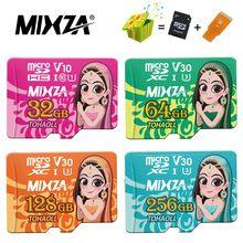 Cartão de memória da deusa de mixza 256 gb 128 gb 64 gb u3 80 mb/s 32 gb cartão micro sd class10 UHS-1 cartão flash memória microsd cartões tf/sd