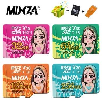 MIXZA Goddess Memory Card 256GB 128GB 64GB U3 80MB/S 32GB Micro sd card Class10 UHS-1 flash card Memory Microsd TF/SD Cards