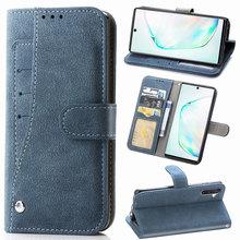 Flip Wallet Cover Phone Case voor Samsung Galaxy Note 10 Plus Kickstand Niet Note10 10 Plus Note10 + Met Card pocket Coque fundas