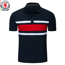 Fredd Marshall New Fashion 2019 Men Colorblock Polo Shirt 100% Cotton Patchwork Short Sleeve Polo Shirts Male Brand Clothing 047