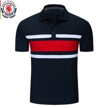 Fredd Marshall yeni moda 2019 erkekler Colorblock Polo GÖMLEK % 100% pamuklu Patchwork kısa kollu Polo GÖMLEK s erkek marka giyim 047
