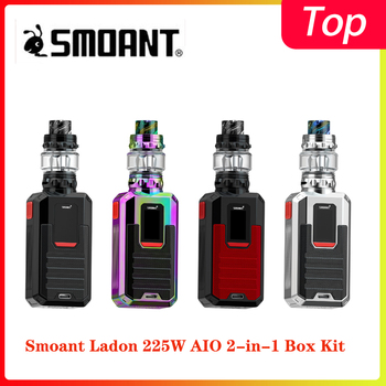 Smoant Ladon 225W AIO 2-in-1 Box Kit powered by dual 18650 batteries with max 225W output with 4.0ml/6.0ml capacity vape Kit new 225w smoant charon mini tc box mod with 2 0 inch tft colorful screen