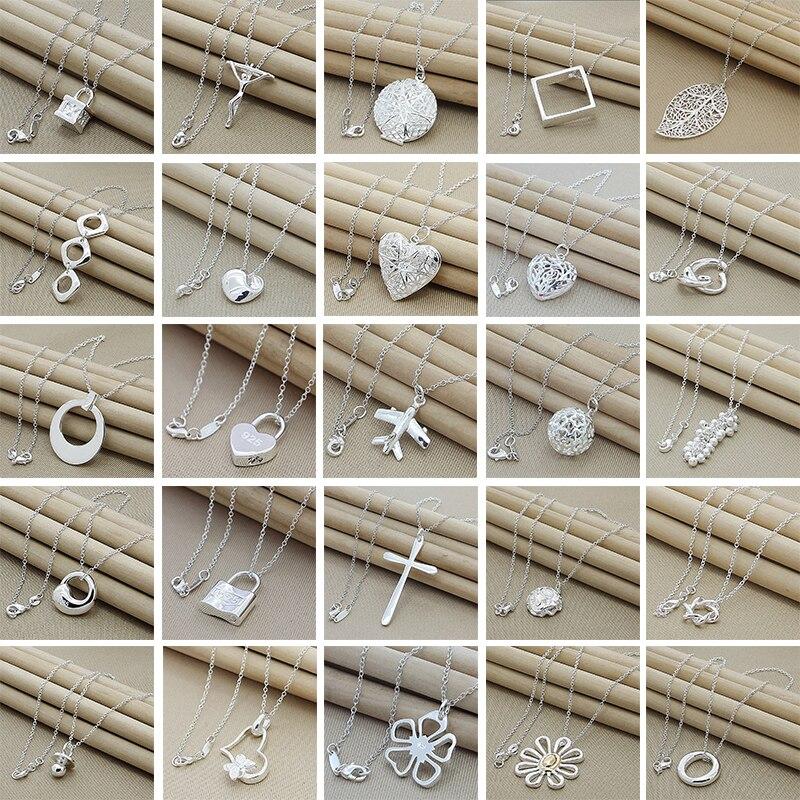 Vente chaude boîte chaîne collier 925 bijoux en argent 4 MM largeur chaîne lien colliers pour femmes hommes bijoux nouveau 2019
