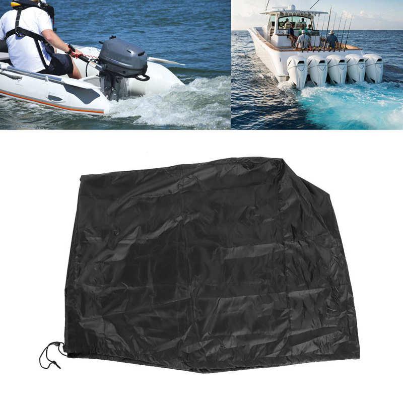 Barco motor de popa capa preta universal trailerable 115 a 225 hp navio acessório