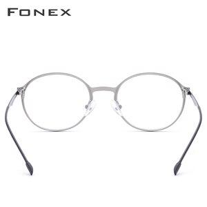 Image 5 - Fonex Legering Ronde Bril Mannen Ultralight Bril Voor Vrouwen Prescription Bijziendheid Optische Brillen Frame Schroefloos Eyewear