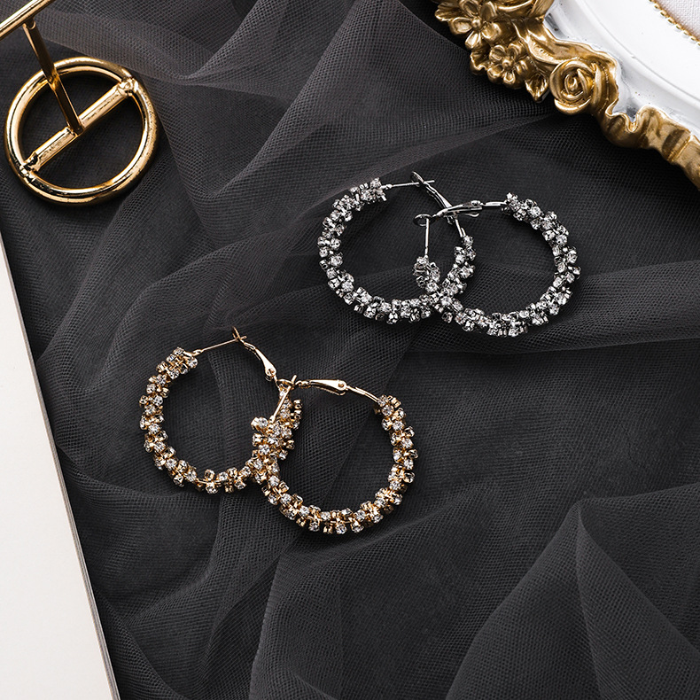 Hda36ae6c86284642977ba277b85d36d5P - Fashion Simulated Pearl Statement Big Small Hoop Earrings for Women Exaggerate Circle Earrings Personality Nightclub Jewelry