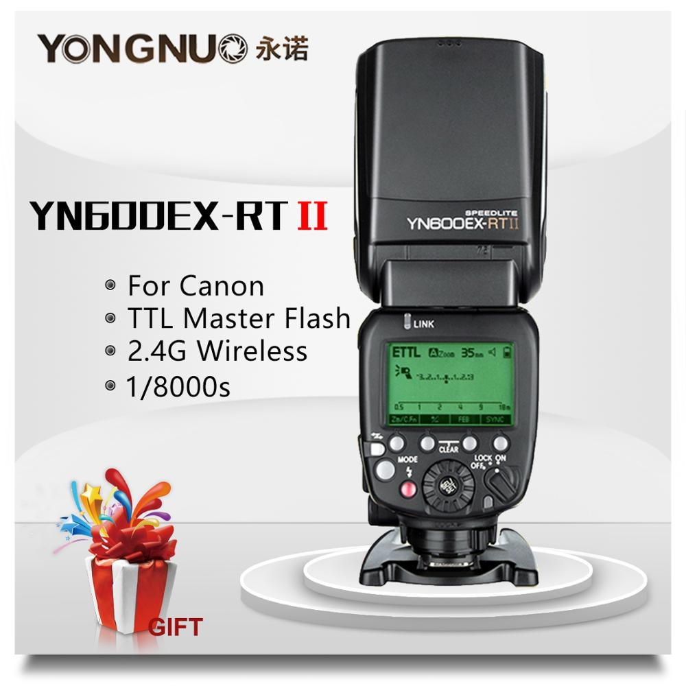 YONGNUO YN600EX RT II 2.4G Wireless HSS 1/8000s Master TTL Flash Speedlite for Canon 60D 650D Camera as 600EX RT YN 600EX RT II-in Flashes from Consumer Electronics