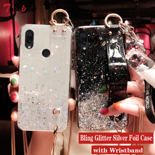 Wrist Strap Hand Band Bling Glitter Case for Xiaomi
