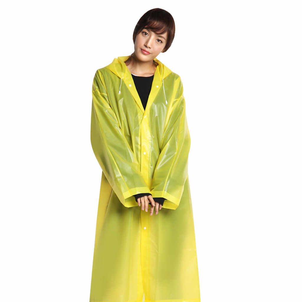 Poncho de lluvia Universal para hombre y mujer con capucha transparente impermeable portátil para adultos no desechable Regenmantel #3
