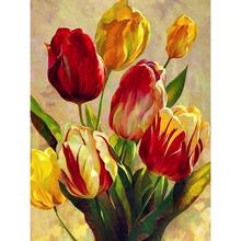 Kwiat róży pełne placu okrągłe diamenciki 5D DIY zestaw do malowania diamentowego mozaika z haftu diamentowego obraz ze strasu plakat na płótnie nowy tanie tanio Malarstwo era Obrazy CN (pochodzenie) Kolorowe pudełko Pojedyncze Żywica Pełna Floral Zwinięte 1-30 Okrągły Europejski i amerykański styl