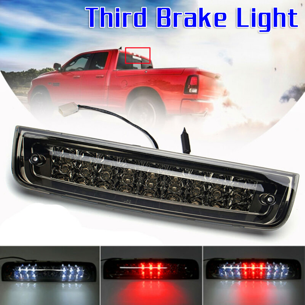 3rd Brake Light High Mount Brake Light 55054706//55054845 LED Rear Light Black+Clear Lens Fit for 94-01 Dodge Ram 1500 94-02 Dodge Ram 2500 94-02 Dodge Ram 3500 Fits Models with Cargo Lights Only
