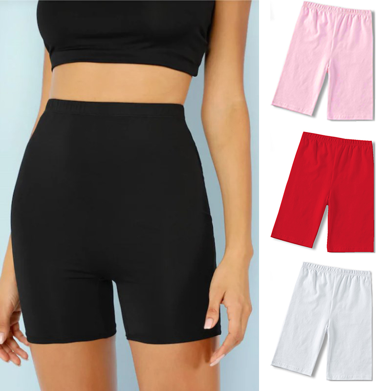 High Waist Solid Color Stretch Clothing Sexy Summer Gym Leggings Women Athleisure Casual Plus Size Workout Short Pants Mujer