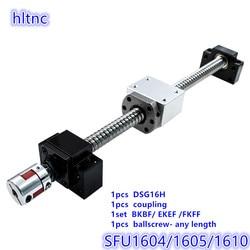 16 мм SFU1604 SFU1605 SFU1610 RM 1605 шариковый винт С7 с торцевой обработкой + DSG16H корпус + BKBF/EKEF/FKFF12 Торцевая Поддержка + муфта