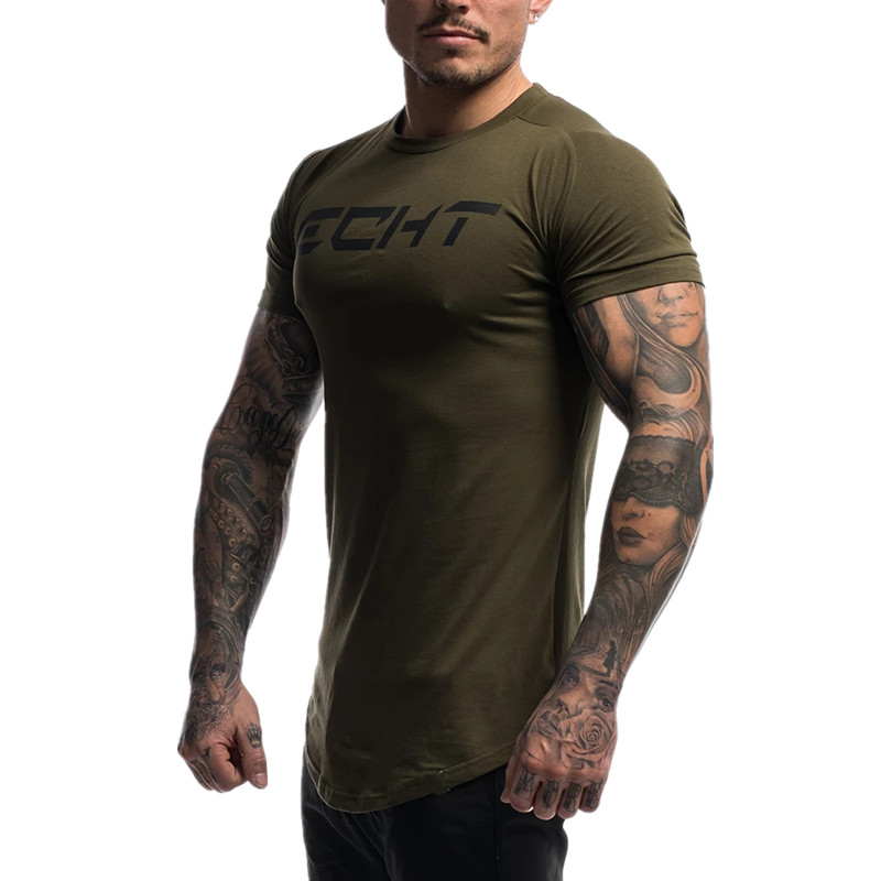 2019 new running shirt men 39 s gym T shirt short sleeved cotton fitness sports t shirt fitness T shirt men 39 s gym T shirt top in T Shirts from Men 39 s Clothing