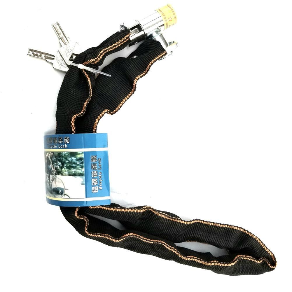 Bicycle Chain Lock Outdoor Bike Protector Anti-Theft Cycling Chain Lock Safe Bicycle Parts Bike Chain Lock For Motorcycle Lock