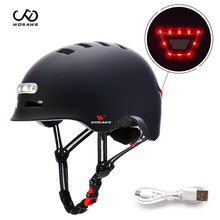 Cycling Helmet Bike Mtb-Bicycle Skiing Wosawe-Light Kids Adult Mah 750 Safe General Luminous
