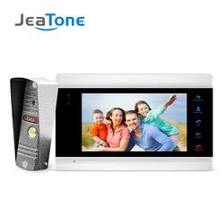 JeaTone Nieuwe 7 inch Video Deurbel Monitor Intercom Met 1200TVL Outdoor Camera IP65 Deurtelefoon Intercom Systeem