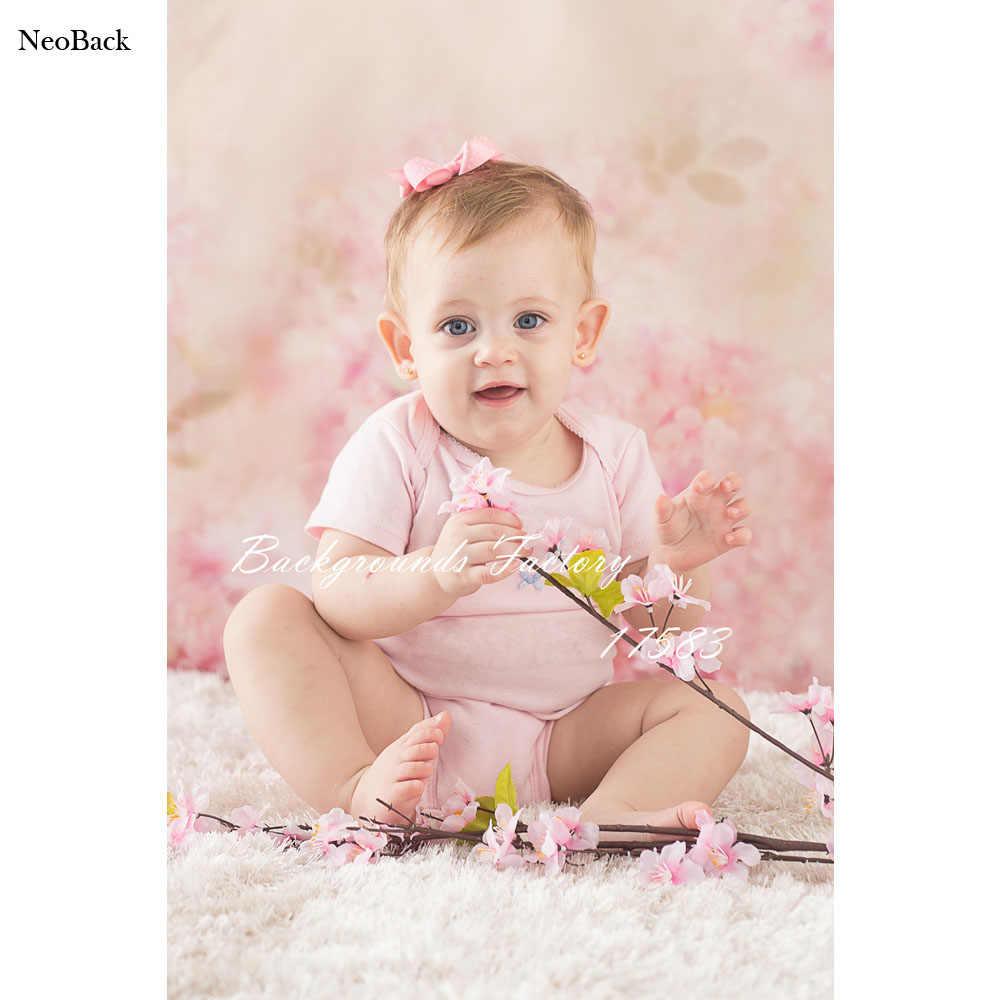 Vinilo fino rosa Floral recién nacido Baby Shower fotografía telón de fondo fantasía Floral custom fotografía estudio foto fondos Prop