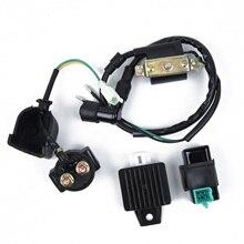 Катушка зажигания CDI Коробка регулятор реле комплект для 50-110cc ATV Скутер мопед картинг