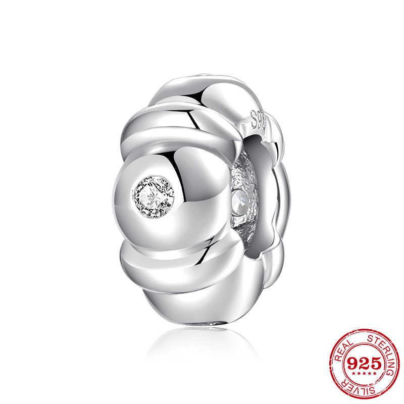 100% Authentieke 925 Sterling Zilver Fashion Vrouwen Charms Spacer Kralen Fit Originele Pandora Bedelarmband Sieraden Maken