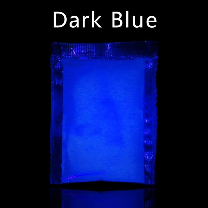 Luminous Paint Pigment Fluorescent Powder Glow In The Dark For Arts Crafts Party Nail Decoration 10g Dark Blue Phosphor Powder
