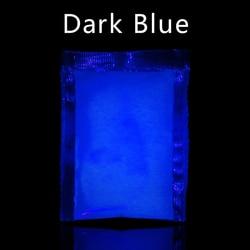 Luminous Paint Pigment fluorescencyjny proszek świecące w ciemności na sztuka i rękodzieło strona ozdoba do paznokci 10g ciemnoniebieski fosfor w proszku| |   -