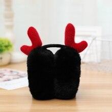 Fashion Cute Ear Winter Earmuffs For Women Warm Earmuffs Ear Warmers Christmas Gifts For women Girls Soft Plush Cover Ears