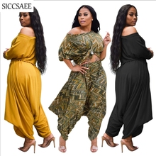 2019 Fall Cropped Crop Top Wide Leg Palazzo Pants Loose Two Piece Set Women Sexy Casual Outfits For Women Wrinkle Harem Overalls цена
