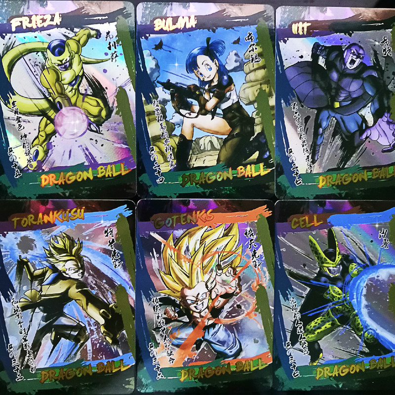 42pcs/set Dragon Ball Super Ink Style Super Saiyan Goku Vegeta Game Action Figures Commemorative Edition Collection Cards Limit