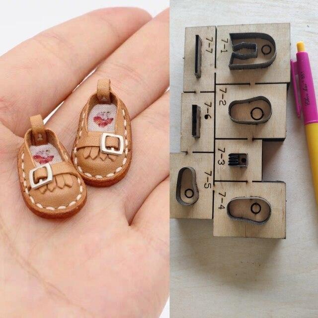 革ダイカットdiyレザークラフトの靴デザインキーチェーンバッグ木製カッター切断金型テンプレートハンドパンチツール