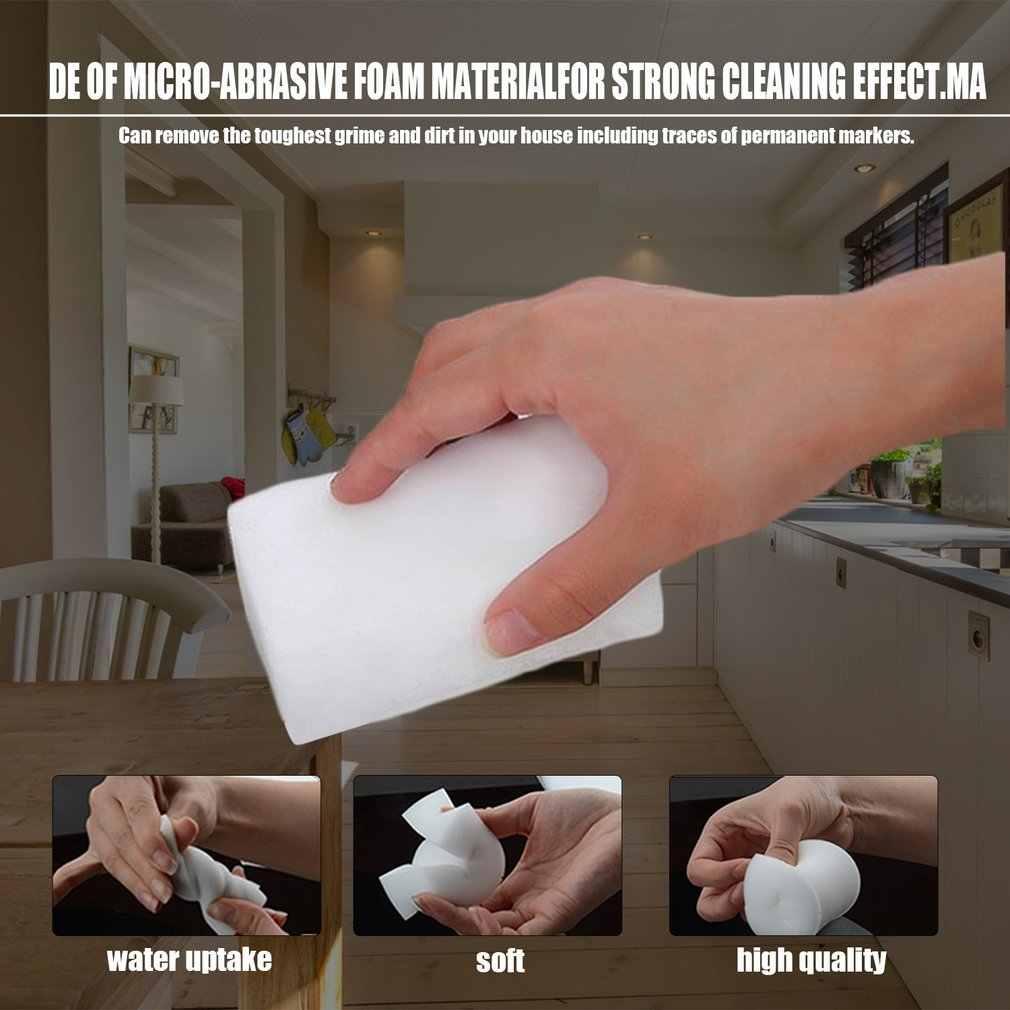 ハウスクリーン 5 Pcs マジックスポンジ消しゴム多機能クリーナーキッチン食器洗浄スポンジ汚れオフィス壁用車