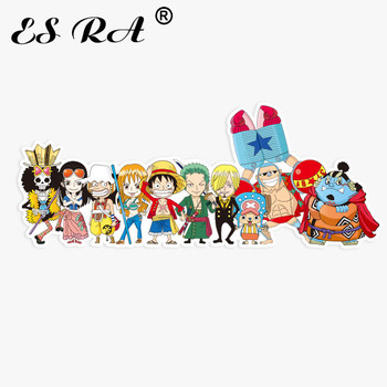 One Piece Lugguage Stickers Big Size 9.8*3.9 inch Anime Pegatinas Laptop Decal Fridge Skateboard Room Decorate