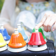 8 Tone Colorful Touch Clock Melody Bell Carillon Class Hand Bell Note Children Musical Toy Percussion Instrument