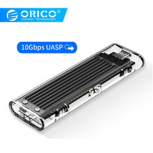 ORICO M.2 SSD Case 10Gbps Support UASP Protocol USB3.1 Gen2 Type-C Mini Transparent SSD Enclosure With C to C and C to A Cable