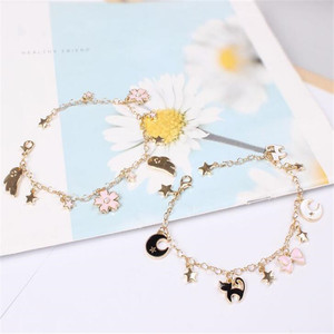 Anime Sailor Moon Loving Wand Crystal cosplay Pendant bracelet Girl accessories Cute props A763