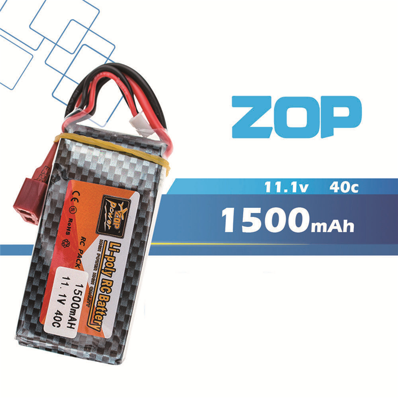 zop Original <font><b>LiPo</b></font> Battery 11.1V <font><b>1500Mah</b></font> <font><b>3S</b></font> 40C Max <font><b>60C</b></font> XT60 T Plug For RC Quadcopter Drone Helicopter Car Airplane Toy Parts image