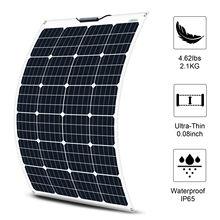 EC0-WORTHY 130W Flexible Solar Panel for Caravan Boat Marine