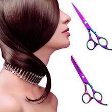 Profissional 6.0 Polegada 4cr barbeiro cabeleireiro tesoura fina tesoura plana beleza conjunto cor puro preto cabeleireiro tesoura