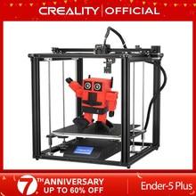 Creality 3d impressora Ender-5 mais duplo y-axis motores de vidro construir placa power fora currículo impressão máscaras venda quente