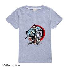 2020 летняя футболка в стиле аниме ropa harajuku Детская с изображением