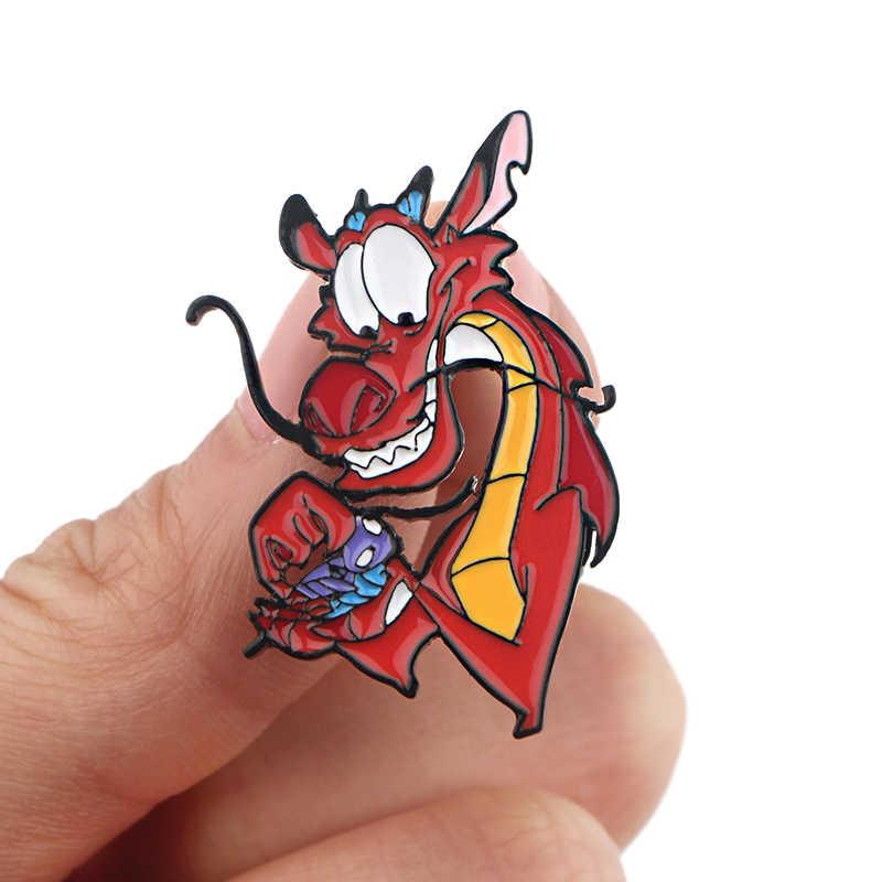 P4049 Dongmanli Divertente Monili Figura Regina del Male del Metallo Dello Smalto Pins e Spille Fresco Spilla Distintivo Amico Regali Anime