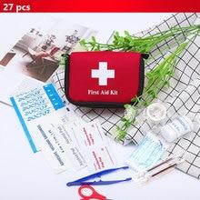 11 artículos/27 Uds Kit de primeros auxilios de viaje portátil para exterior, Camping, bolsa médica de emergencia, venda de vendaje, Kits de supervivencia, autodefensa