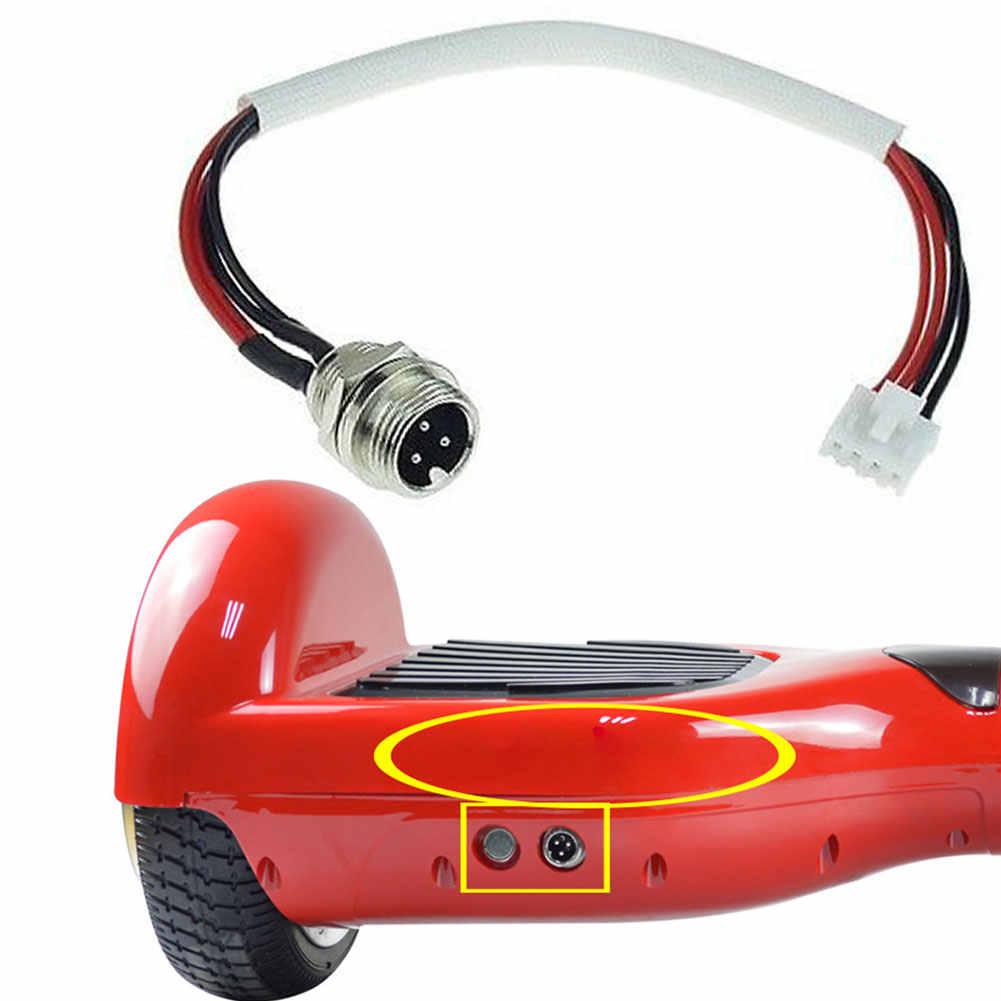 Per il Bilanciamento di Scooter 3 Spille/Prong 4 Filo Caricabatteria di Ricambio Porta Pratico Hoverboard Parti di Accessori Elettrici Utile
