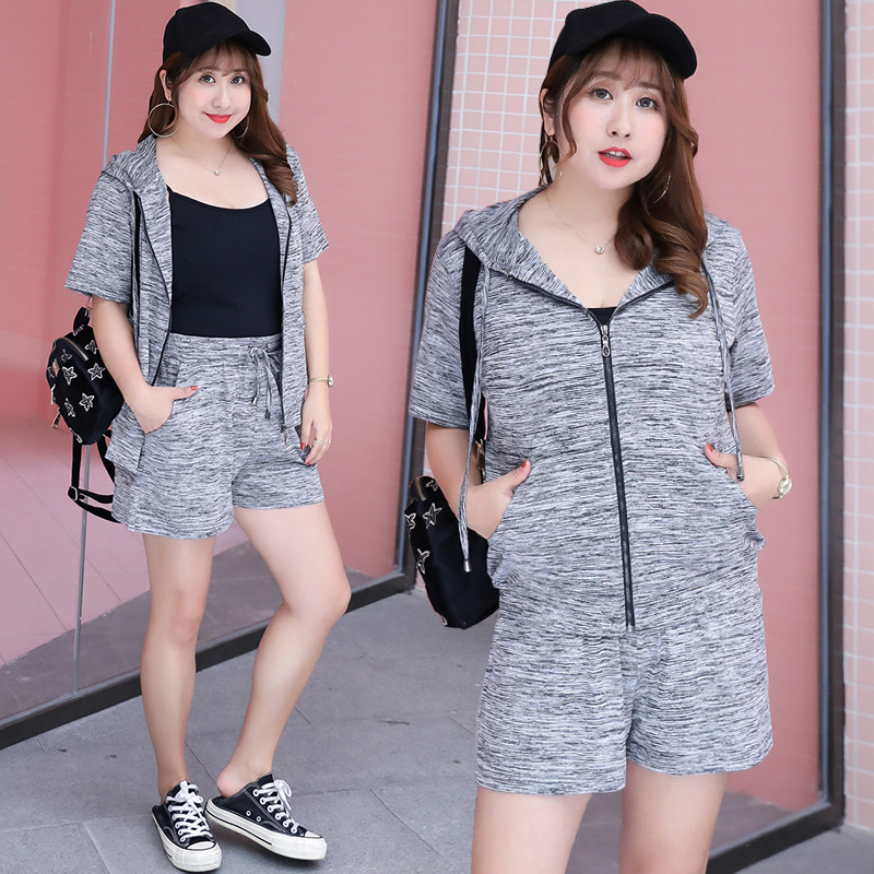 [Sold Out Do Not Fill] Large Size Dress Casual Sports Two-Piece Set Fashion Set Fat Mm Dress Y1349